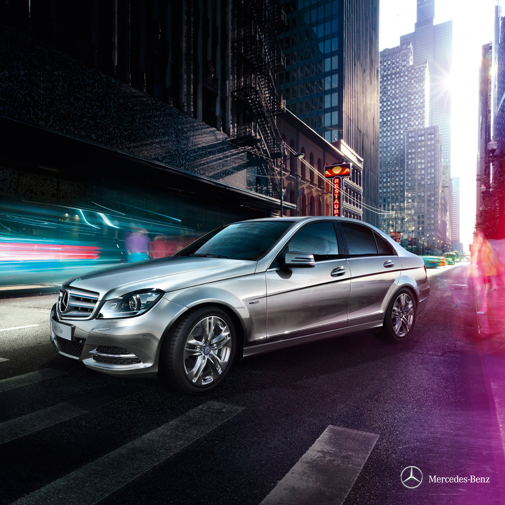 mercedes benz c-class coupe | ipad wallpaper - download free ipad
