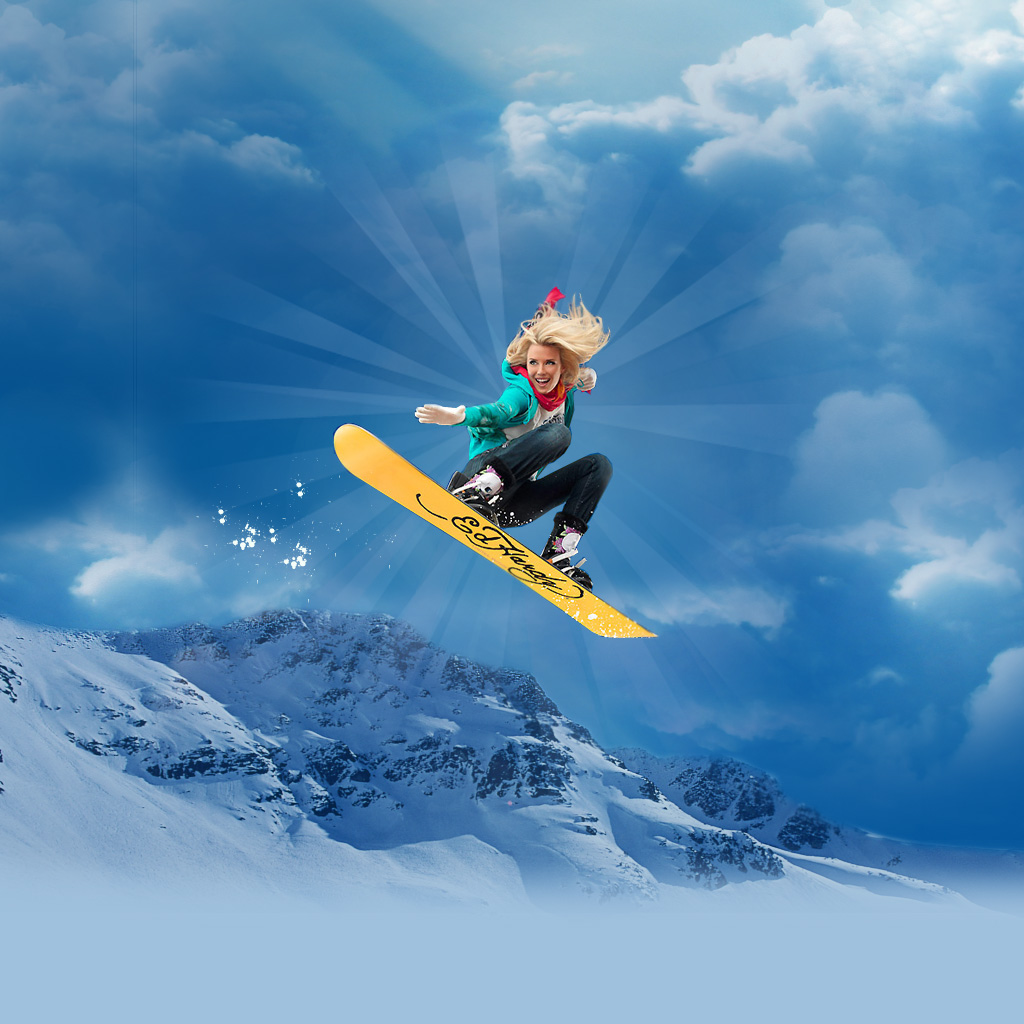Snowboarding iPad Wallpaper