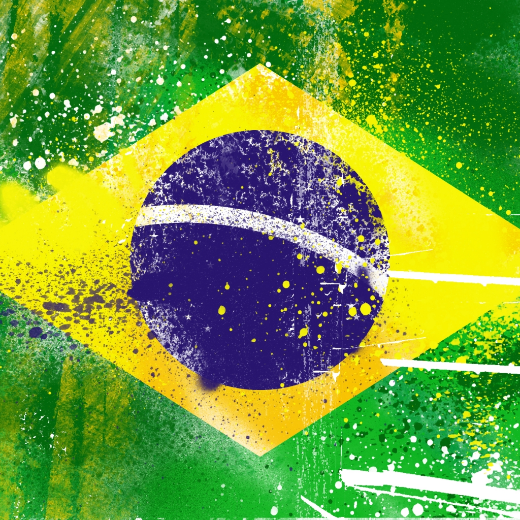 Brazil Flag  iPad Wallpaper  Download free iPad wallpapers